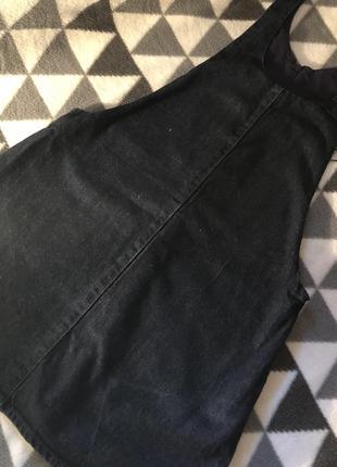 Классный джинсовый сарафан zara