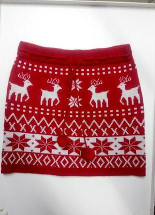 Теплая вязаная юбка размер uk 12 наш 46