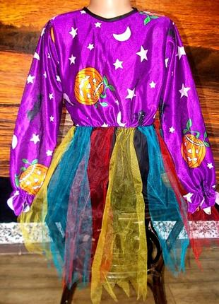 Платье маскарадное хэллоуин размер на 7-10 лет цена снижена