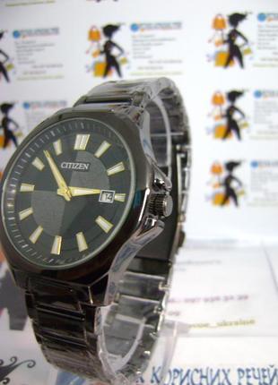 Мужские наручные часы citizen c датой на браслете