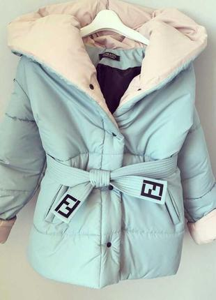 Пуховик - курточка winter collection  из плотного непродуваемого/водоотталкивающего