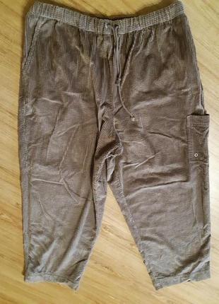 Хлопковые вельветовые брюки спортивного стиля