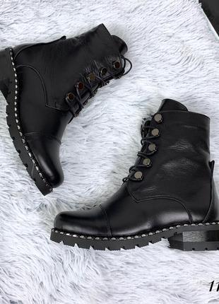 Стильные ботинки из натуральной кожи деми или зима на выбор. размеры с 36 по 40