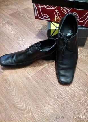 Кожаные мужские туфли 42р