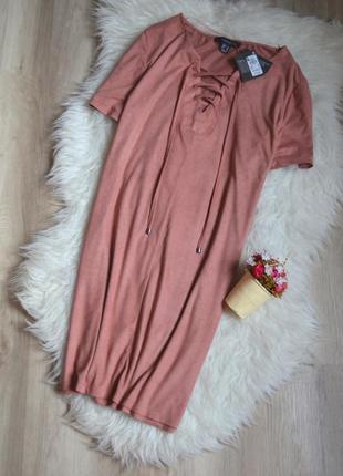 Новое платье под замшу со шнуровкой atmosphere