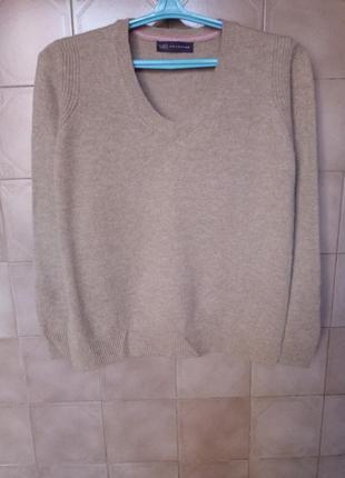 Фирменный теплый свитер джемпер 100% pure merino !