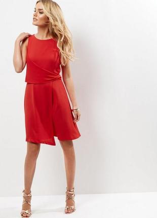 Новое красное платье new look