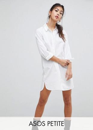 Катоновое платье рубашка asos,р-р 6