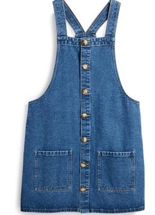 Новый джинсовый сарафан / комбинезон с юбкой denim co