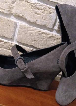 Р42 туфли born натуральная кожа и замша длина стельки 28см