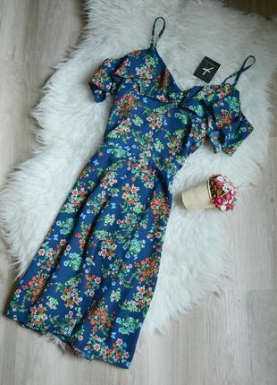 Новое цветочное платье с открытыми плечами atmosphere