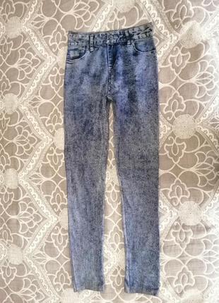 Лосины с принтом джинс