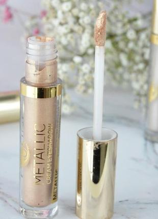 Жидкие металл тени metallic cream #01 gold