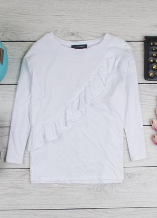 Белая кофта блуза хлопок  от atm рр 12 наш 46