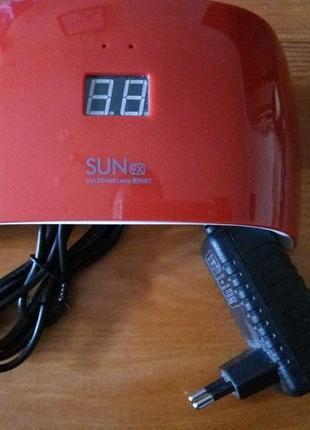 Светодиодная uf уф лед лампа для сушки гель лака 18 wt . uv led