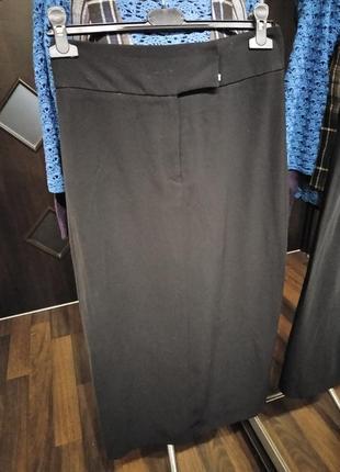 Шикарная макси юбка из шелковистой обтекаемой ткани