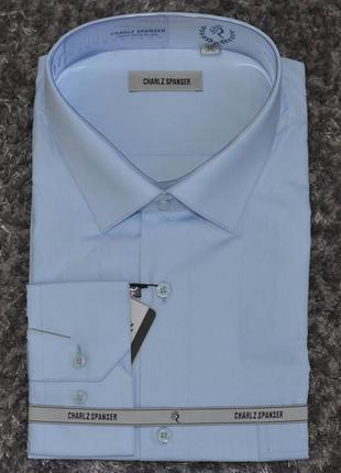 Рубашка батал, большой размер однотонная charlz spanser