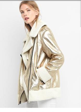 Куртка-дубленка на искусственном меху gap, p-p s