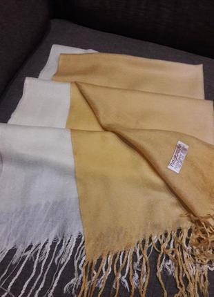 Палантин,шарф pashmina 70% кашемир 30% шелк.