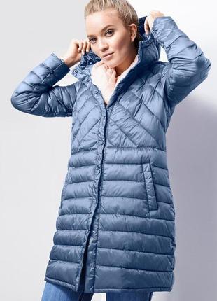 Стеганое ультралегкое теплое, пальто- куртка тсм tchibo, германия, р.44наш