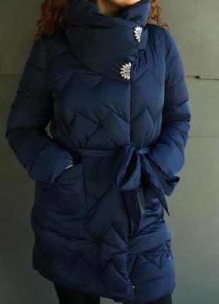 Шикарная зимняя куртка\пуховик\пальто большого размера