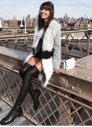 Крутейшие ботфорты zara, черного цвета. очень удобные и стильные