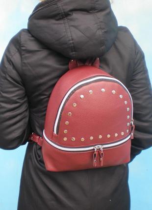 Бордовый рюкзак ручной работы