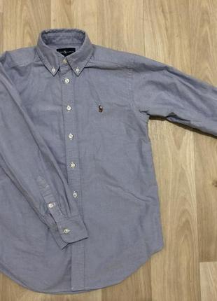 Синяя рубашка ralph lauren под джинс
