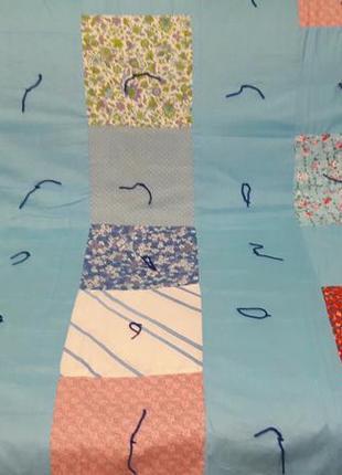 Одеяло, покрывало, плед пэчворк двусторонний с красивыми картинками и узорами из сша