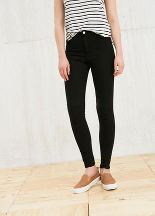 Черные базовые джинсы скинни zara
