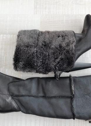 Сапожки натуральный мех италия 37 25 см