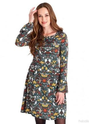 1+1=3 красивое свободное платье в восточный принт 100% вискоза большой размер