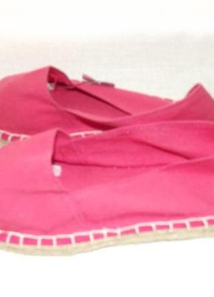 Эспадрильи розовые 28 размер3