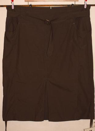 Классная юбка (3-4хл замеры) хорошо садится по фигуре, есть кармашки,100% хлопок