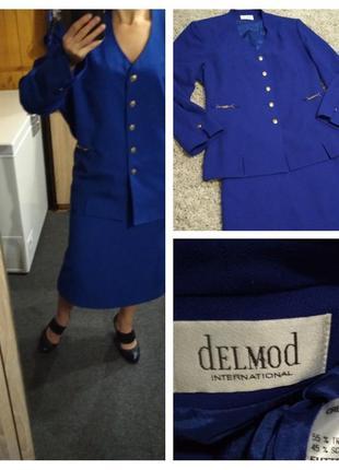 Очень красивый и качественный костюм,шерсть и тревира, германия delmod, p. 48/50