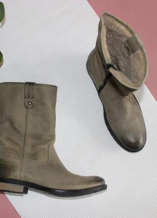 42 28,5см dolcis кожаные ботинки на меху сапоги сапожки