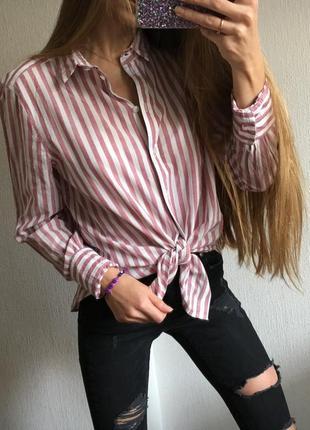 Стильная рубашка в полоску от h&m