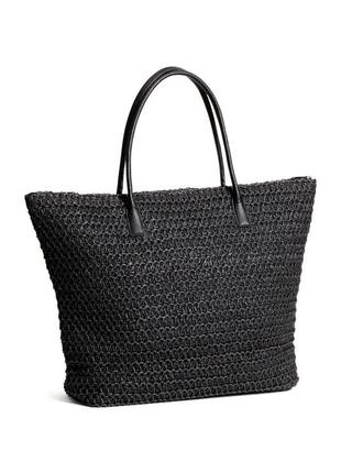 Соломенная сумка, большая вместительная сумка шоппер шопер
