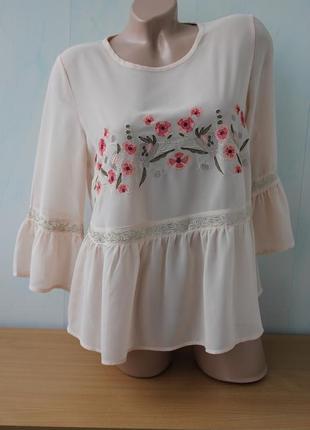 Блуза с вышивкой  new look