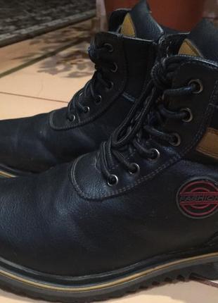 Мужские ботинки, зима, хорошее состояние