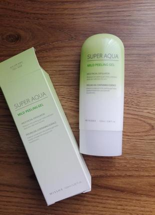 Мягкий пилинг гель для чувствительной и тонкой кожи missha super aqua mild peeling gel