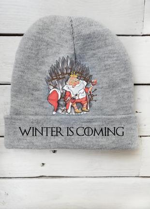 Креативная шапка унисекс новогодняя новый год игра престолов