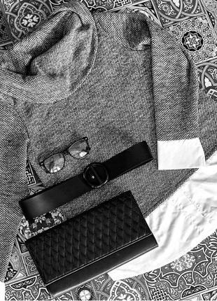 Тёплый серый свитшот имитация свитера с рубашкой