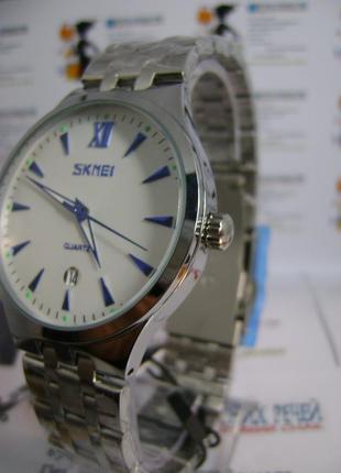 Мужские наручные часы skmei 9071 с датой на браслете