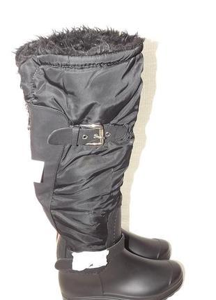 Сапоги резиновые с мехом чёрные 36 размер