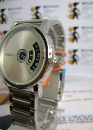 Мужские наручные часы skmei 1260 с датой на браслете