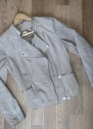 Стильная замшевая куртка косуха must have