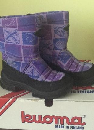 Зимние сапоги валенки куома kuoma 33р фиолетовые сиреневые