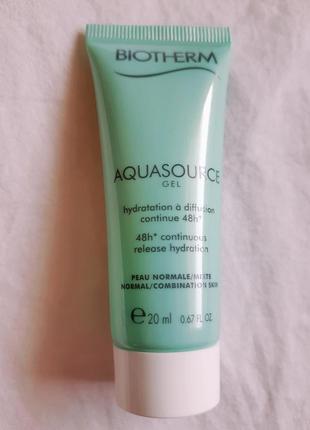 Увлажняющий крем-гель для лица aquasource от марки biotherm