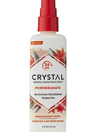 Crystal  натуральный дезодорант-спрей с экстрактом граната, 118 мл